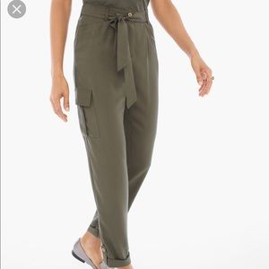 NWT Soft Textured Ankle Utility Pant Grape Leaf